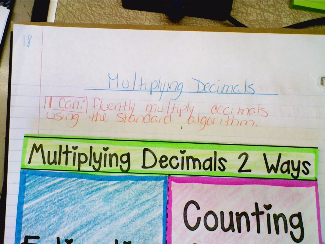 11/19 inb pgs. 18-19 multiplying decimals - welcome to 6th grade math!